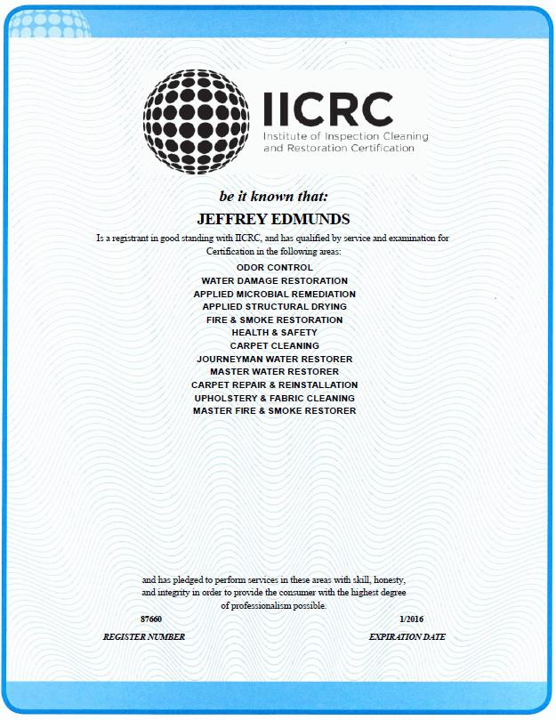 iicrc restoration wrt aquire oct